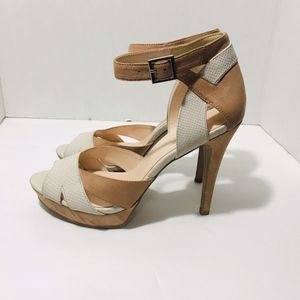 Nine West  High Heel Pump Peep Toe Ankle Strap